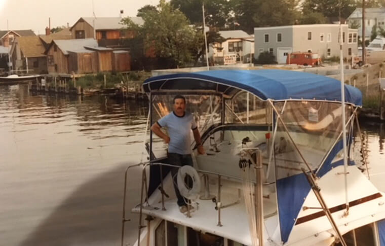 Paul Anzelone on a Boat