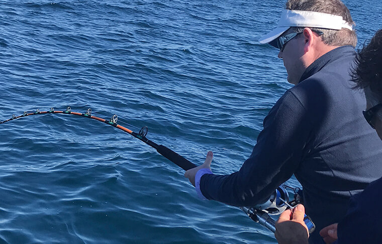 Reeling in a Catch Offshore Charter